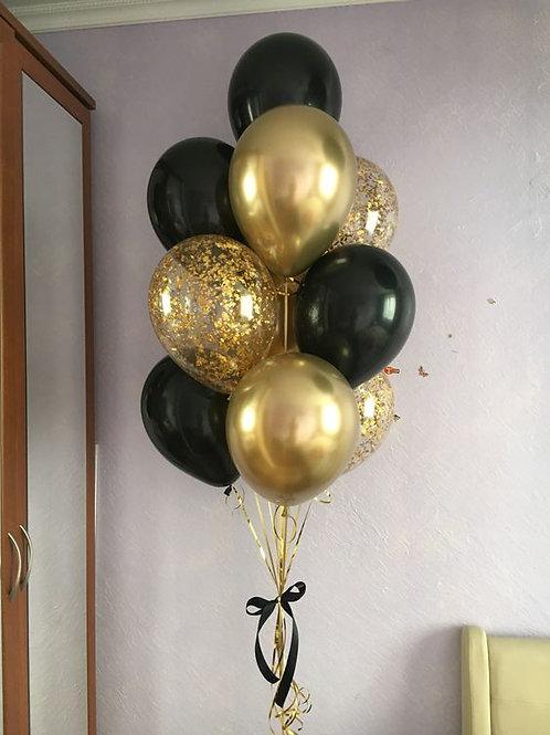 Фонтан черный с золотом