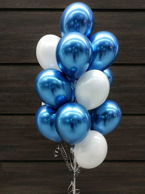 Фонтан белый, синий хром
