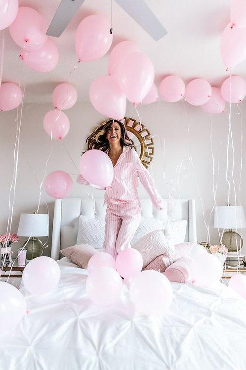 Шары розовые пастель