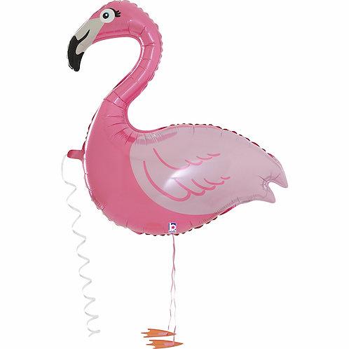Шар ходячий Фламинго розовый