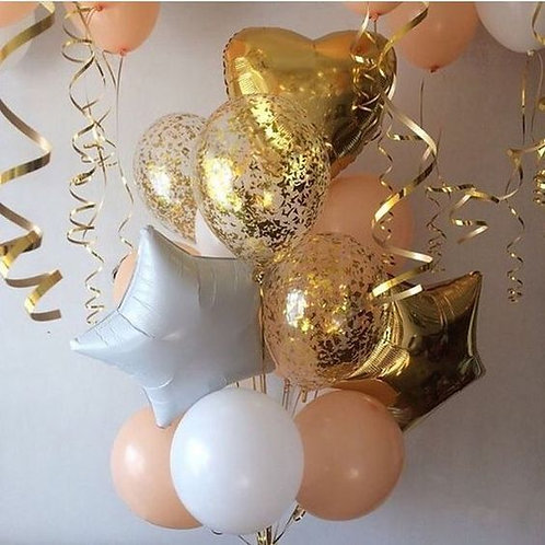 Фонтан золото с персиком