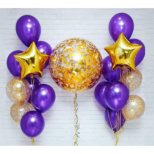 Композиция фиолетовый с золотом