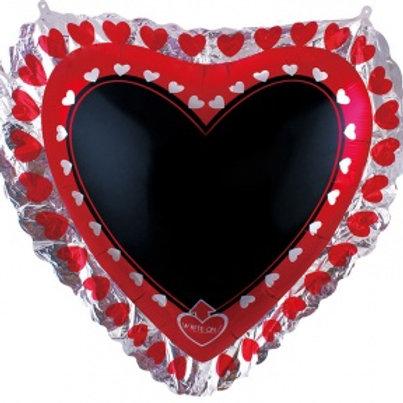 Шар Сердце, Для надписей (с маркером)