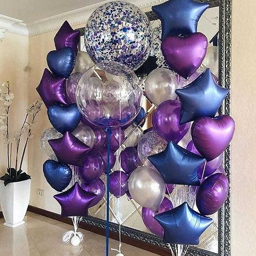 Фонтан фиолетовый с синим