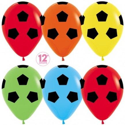 Шары Футбольный мяч разноцветные