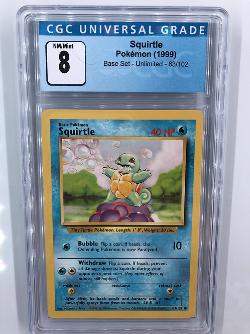 1999 Squirtle - Base Set Unlimited CGC 8