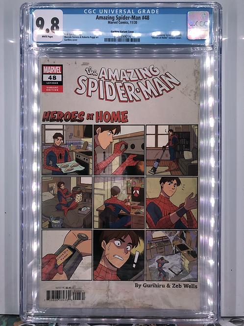 Amazing Spider-Man #48 (Gurihiru Heroes At Home Variant) CGC 9.8