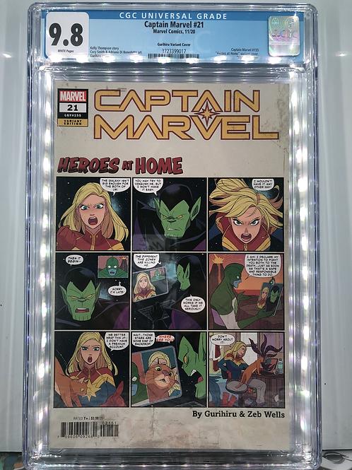 Captain Marvel #21 (Gurihiru Heroes At Home Variant) CGC 9.8