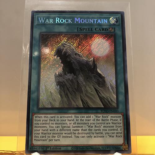 War Rock Mountain - BLVO-EN000 - Secret Rare 1st Edition