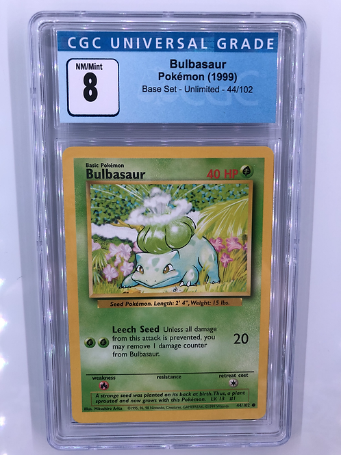 1999 Bulbasaur - Base Set Unlimited CGC 8