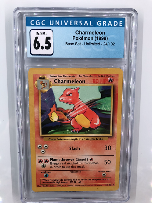 1999 Charmeleon - Base Set Unlimited CGC 6.5