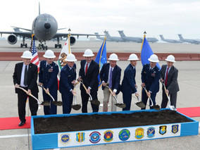 Travis breaks ground for 3-bay KC-46 hangar