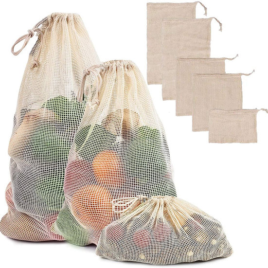 Organic Cotton Mesh Produce Storage Bags