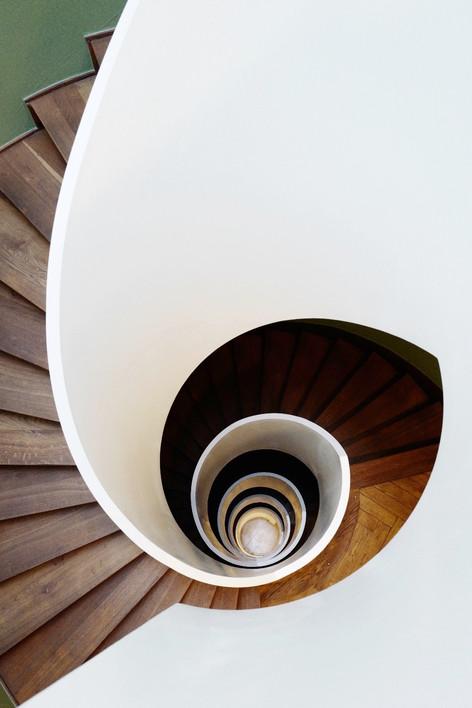 Staircase in Zürich, Switzerland.