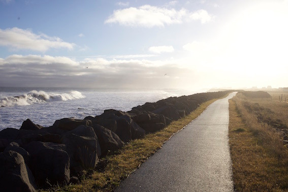 Seaside walking trail