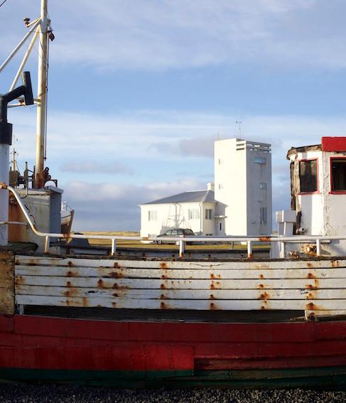 Ship wrecks next to Garður Museum