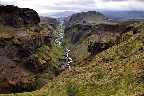 landscape-of-canyon-and-river-in-thorsmo
