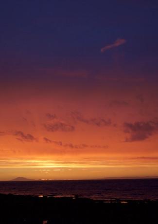 Sunset. Snæfellsjökull in the distance