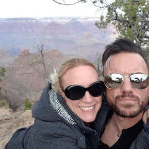 Selfie from our trip to the Grand Canyon