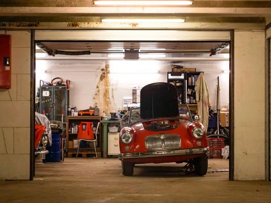 Down under - in the garage ..