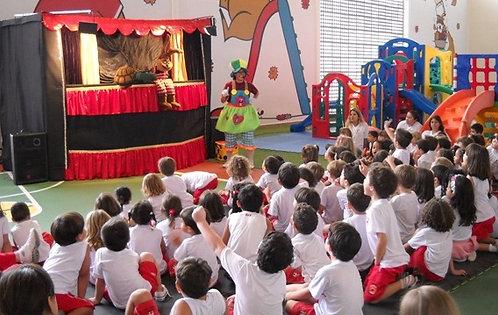 1 Recreador + Teatro de bonecos + 2 personagens vivos