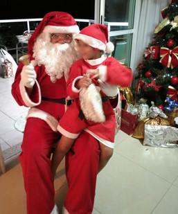 Santa para entrega de presentes