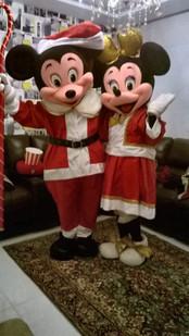 Mickey e Minnie noite de Natal