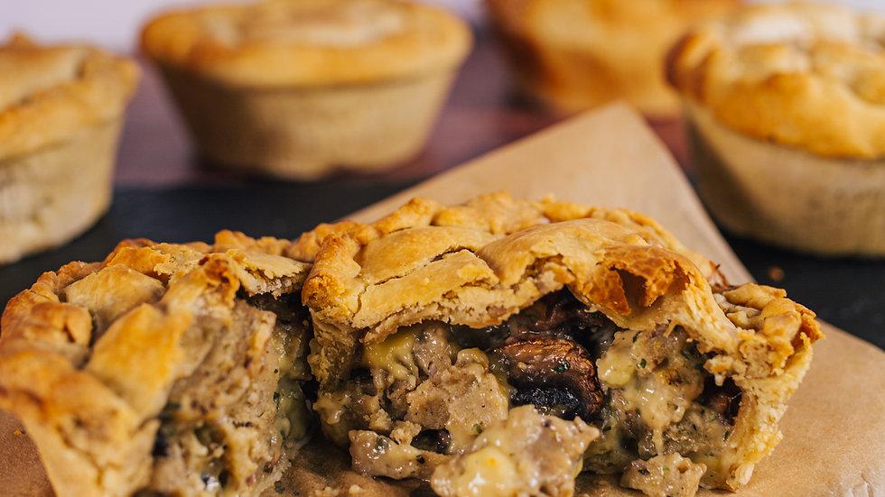 Posh Pies - Vegan Chicken & Mushroom Pies (2 Pack)
