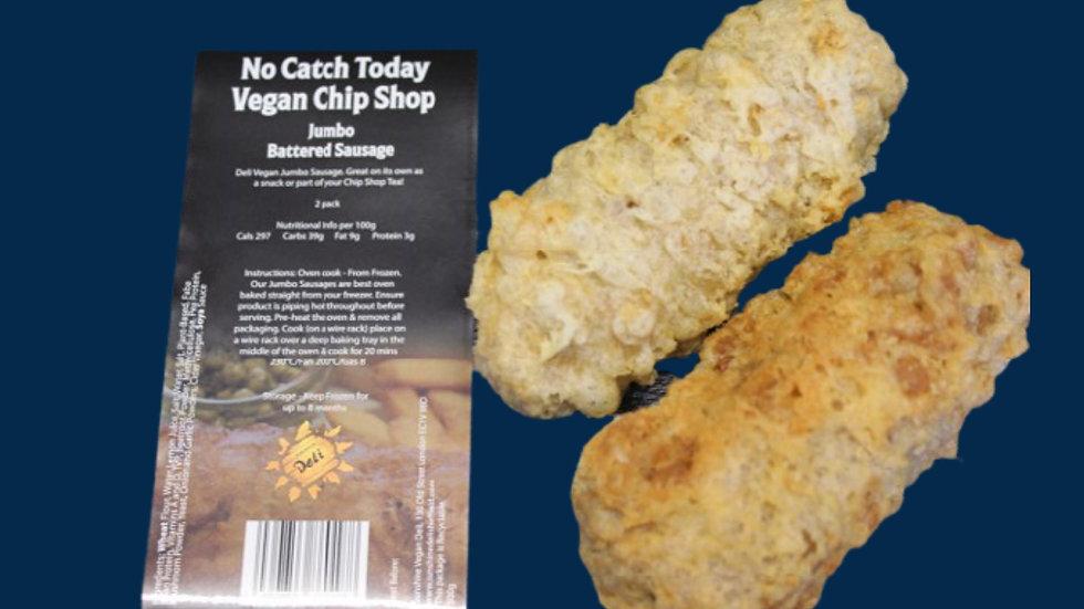 Not Catch Today! Vegan Chip Shop Range - Vegan Battered JUMBO Sausage