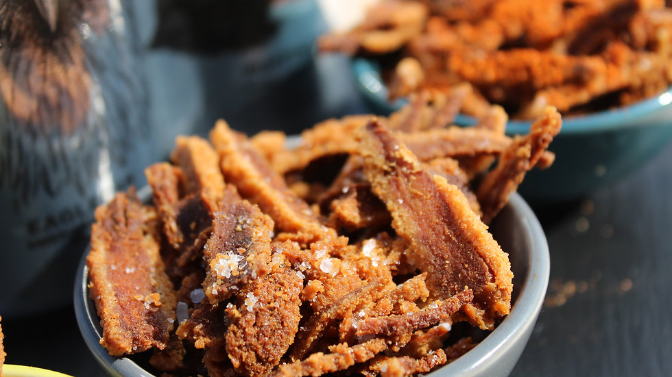 Sea Salted Porkless Scratchings - Pack of 4
