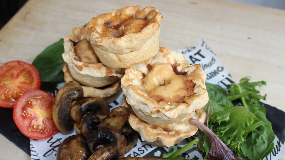 2 Vegan BBQ Pulled Pork Pie Picnic Size