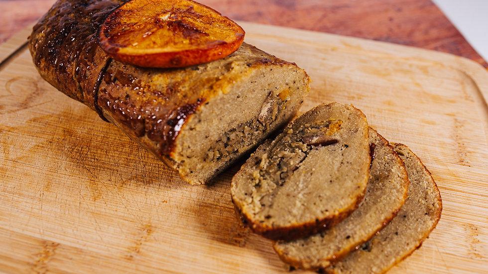 Vegan Chicken & Stuffing Roast with Sage & Onion Rub