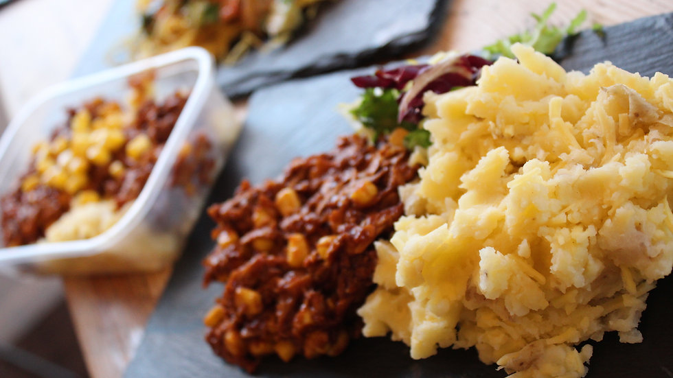Vegan  Tennessee BBQ Pulled Pork with Cheesy Mash & Swede (2 Pack)
