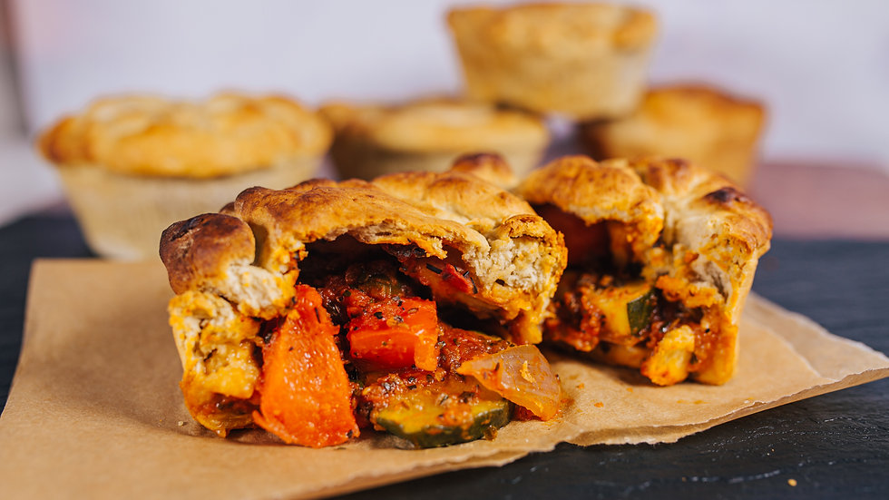 Posh Pies  - Vegan 2 Pack of Mediterranean Vegetable Pies