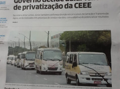 Reportagem no Jornal Correio do Povo.