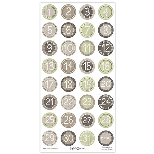 Down Home Numbers Sheet