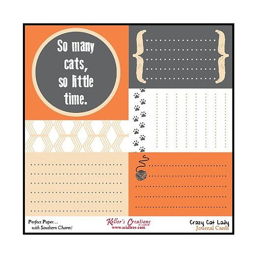 Crazy Cat Lady Journal Cards
