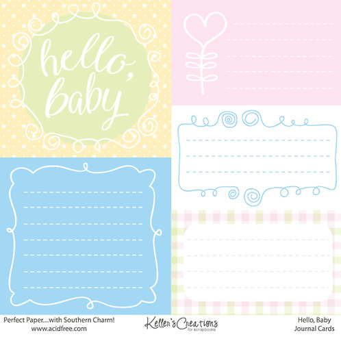Hello, Baby Journal Cards