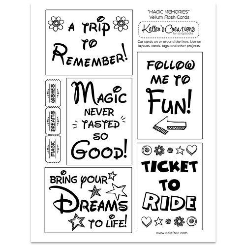Magic Memories Vellum Flash Cards