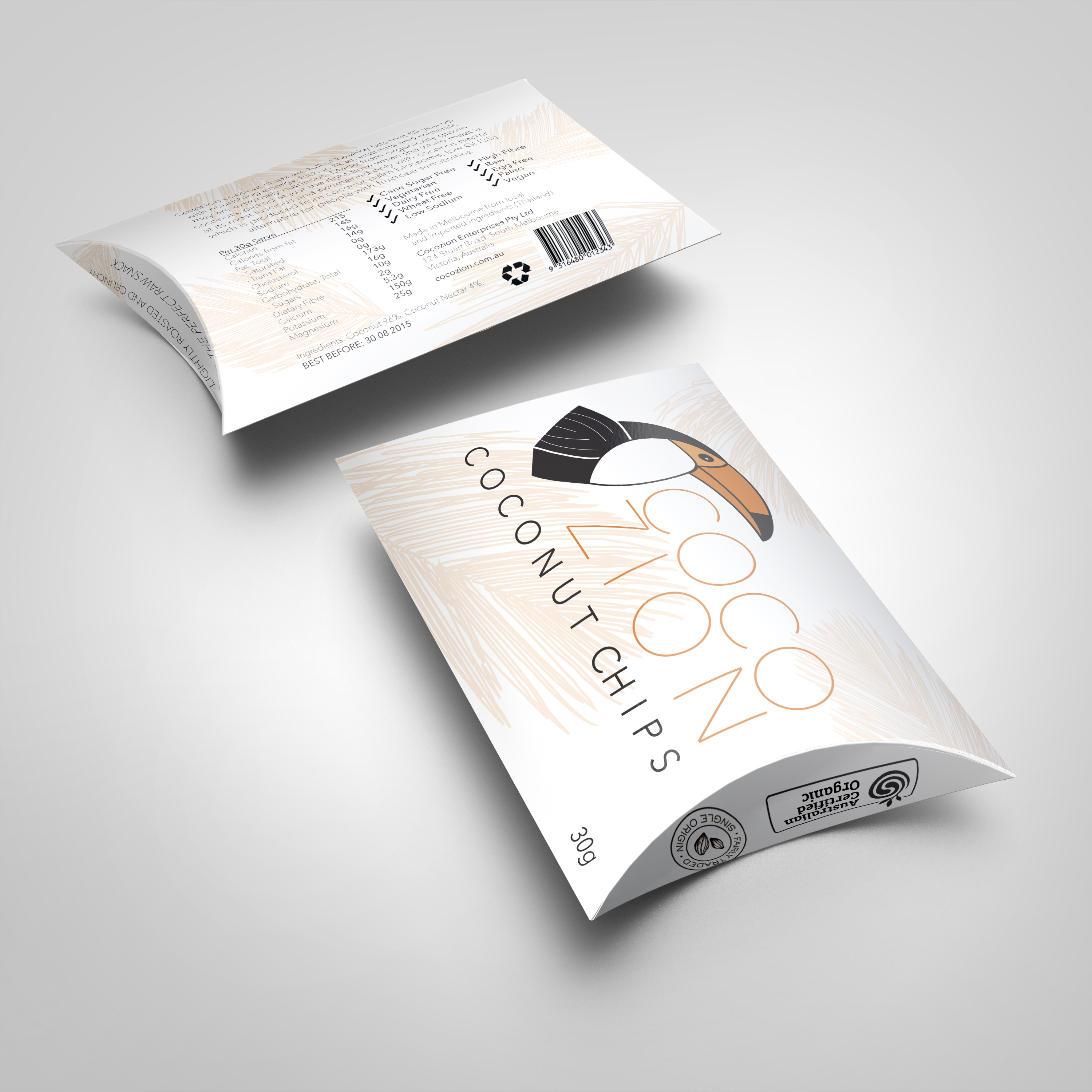 Cocozion | Pillow Box Packaging