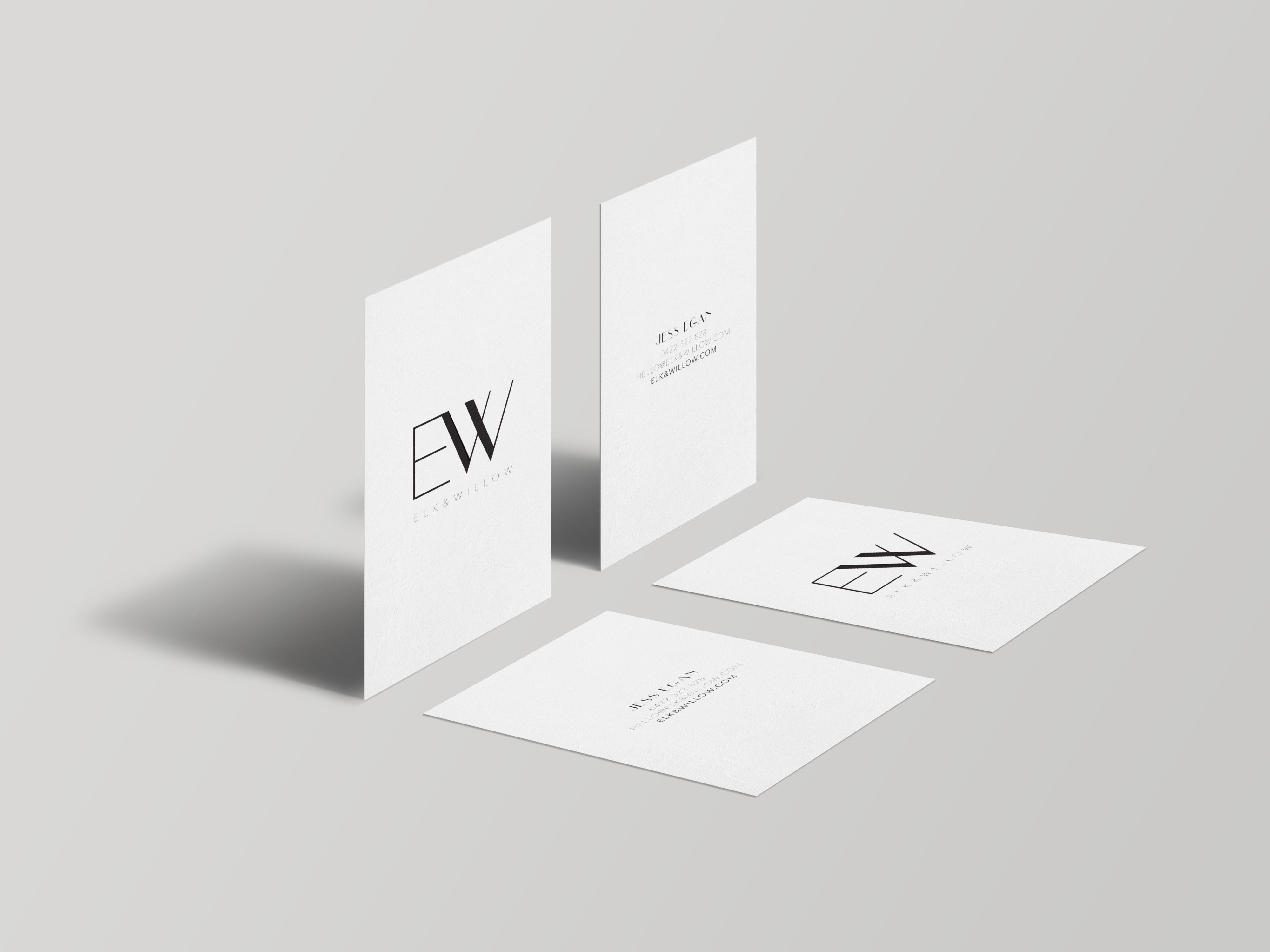 Elk & Willow | Business Card Mock Up
