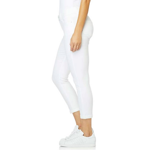 Jeans blancos al tobillo