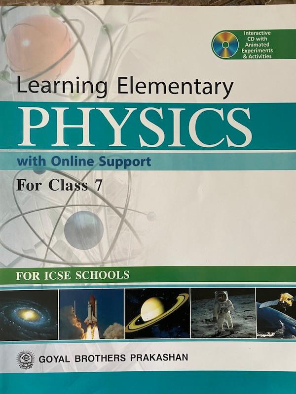 Grade 7 ICSE Physics Textbook
