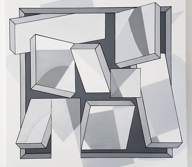 _Monochromance 🖤_ - Acrylic on canvas,
