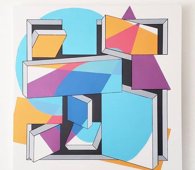 _Seven on Seven_ - Acrylic on canvas, 36