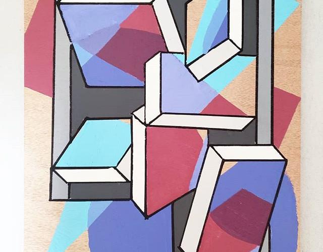 _Dipset_ - Acrylic on wood, 9_ × 12_ (20
