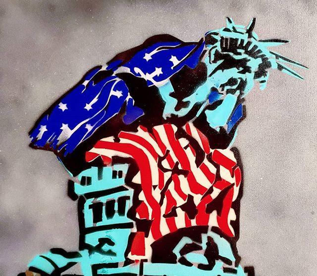 _America the Broken, V3_ - Spray paint o