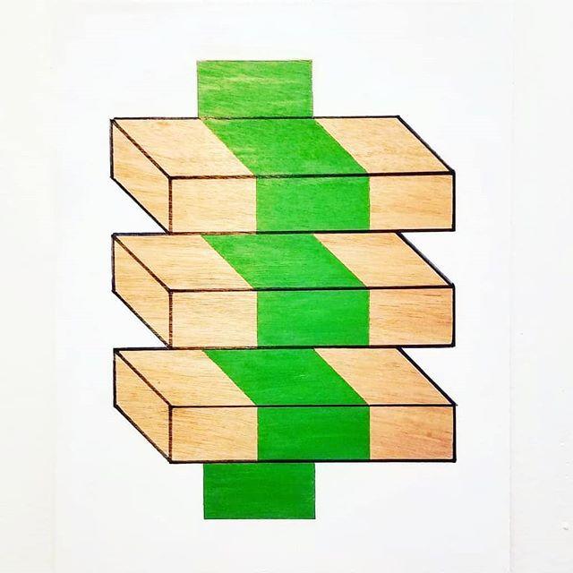 _Alpine_ - Acrylic on wood, 16_ × 20_ (2