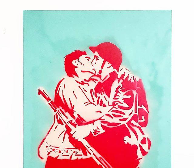 _LOVE NOT WAR_ - Spray paint on canvas,