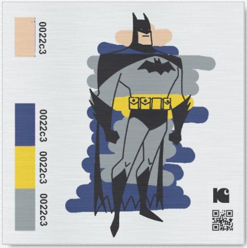 "Sketchy Batman - 12"" x 12"" Metal Print"